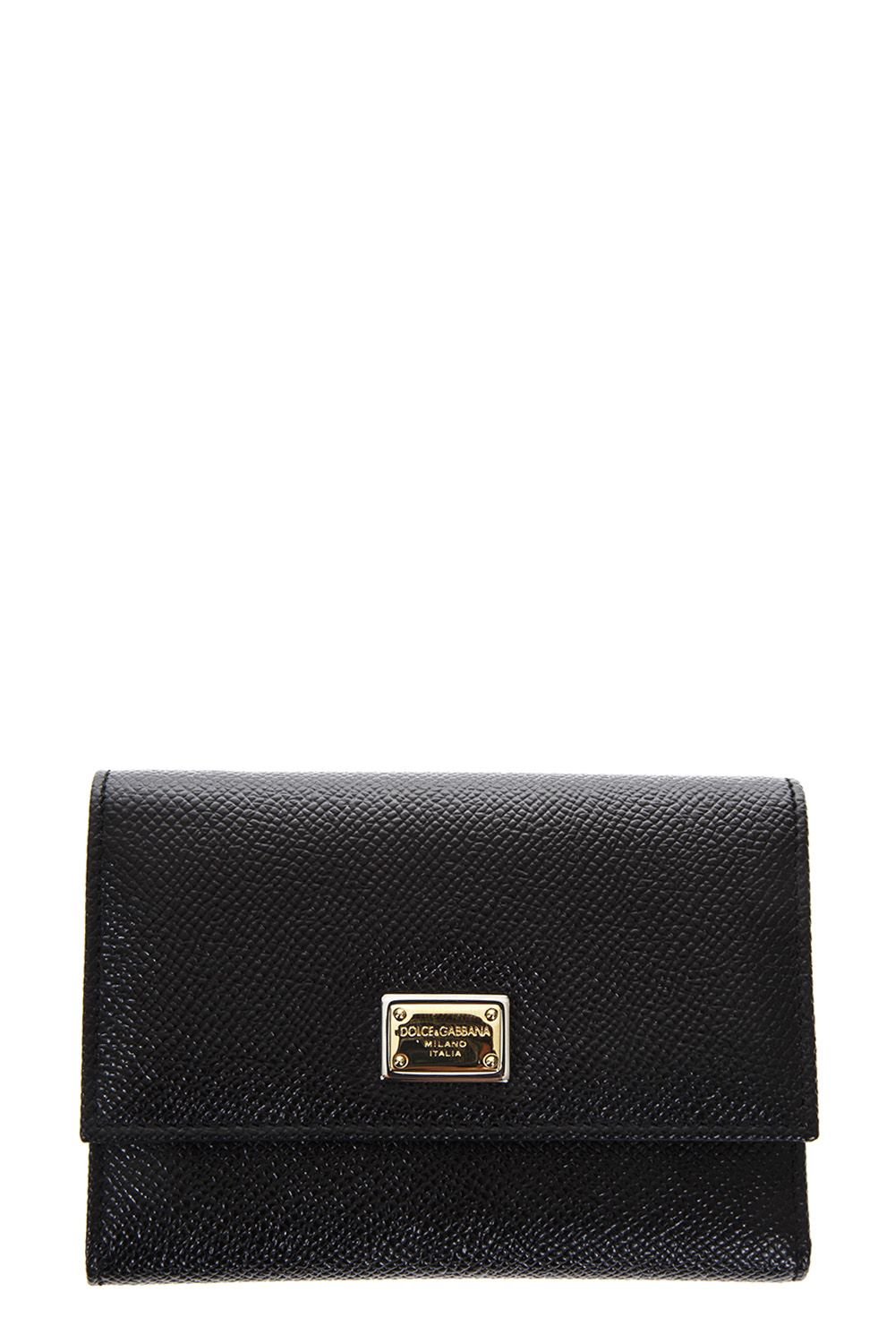 Dolce & Gabbana Dauphine Black Leather Wallet