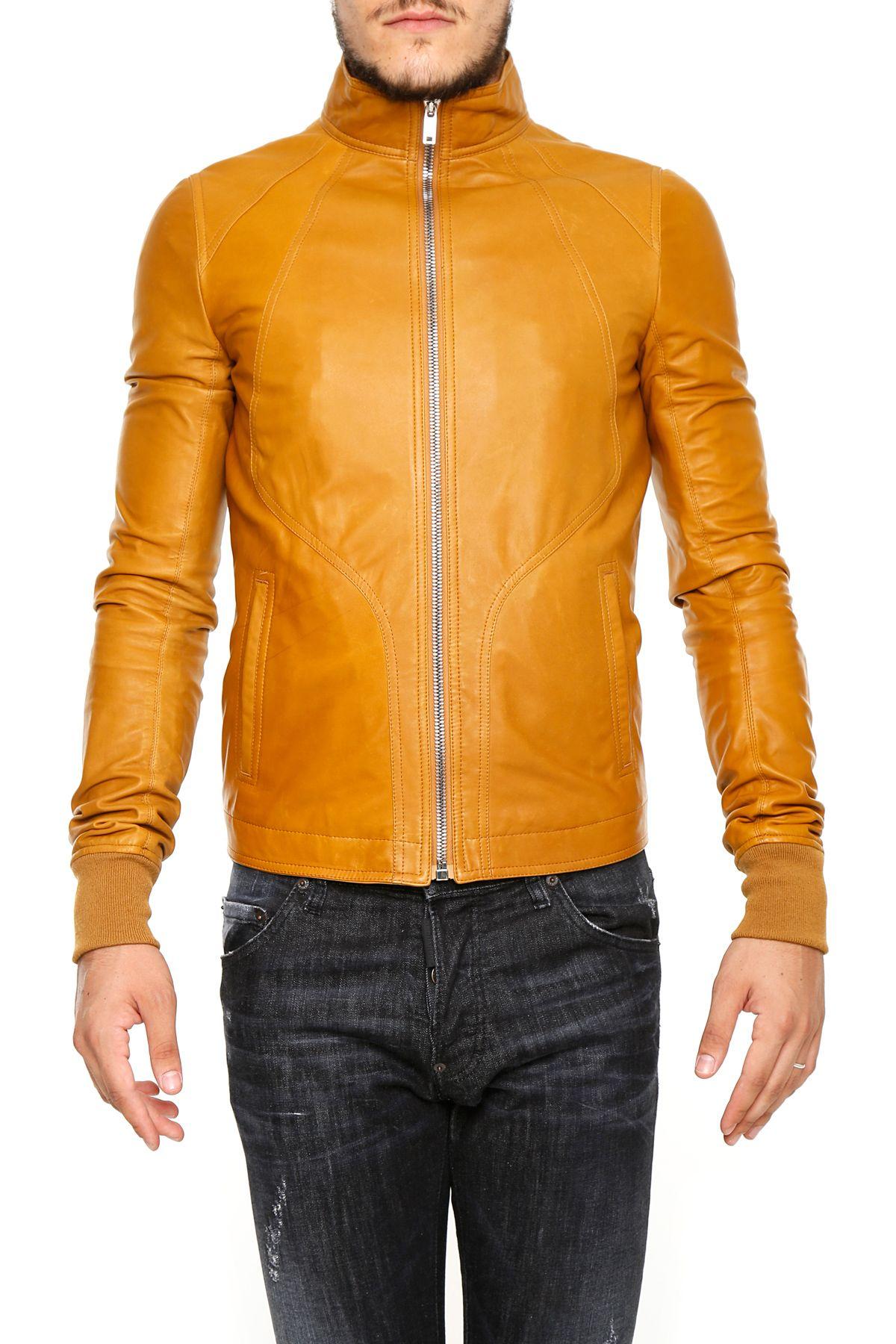Intarsia Leather Jacket