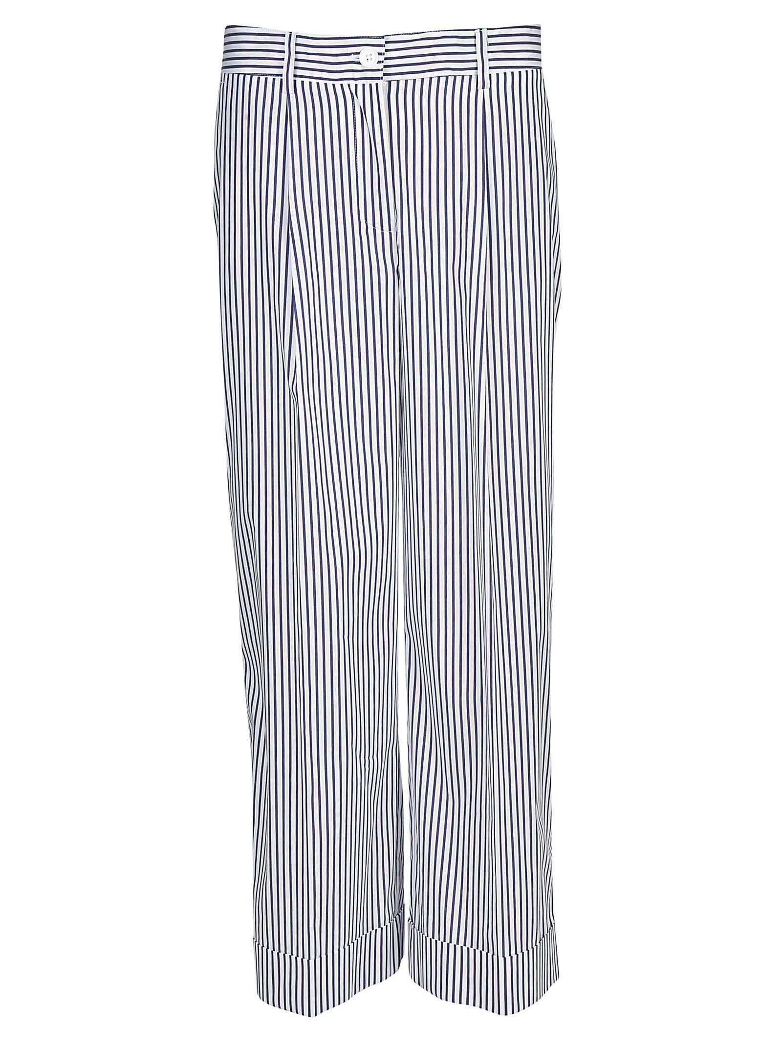 Parosh Striped Long Trousers