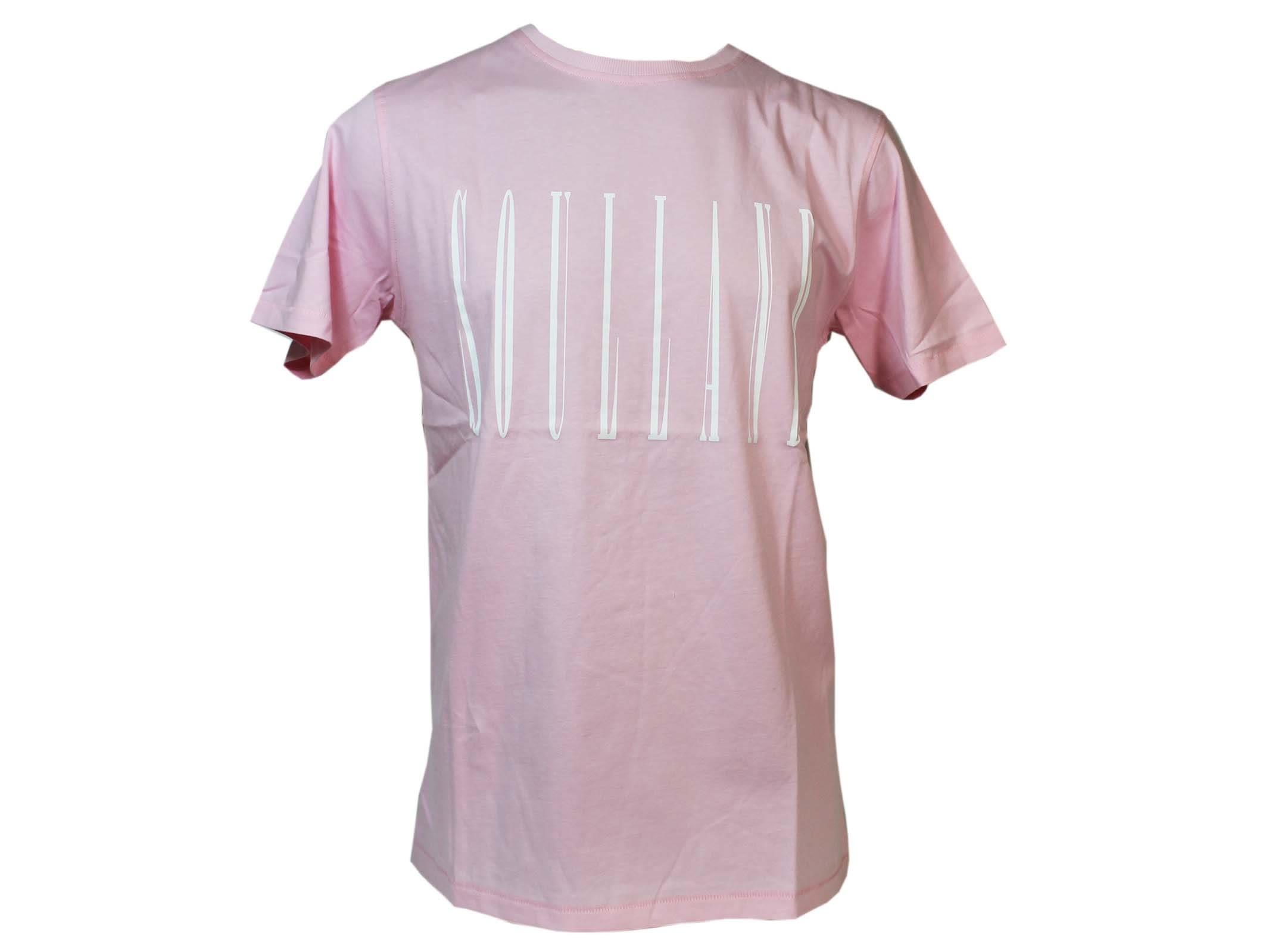 Soulland Pink Barker Logo T-shirt