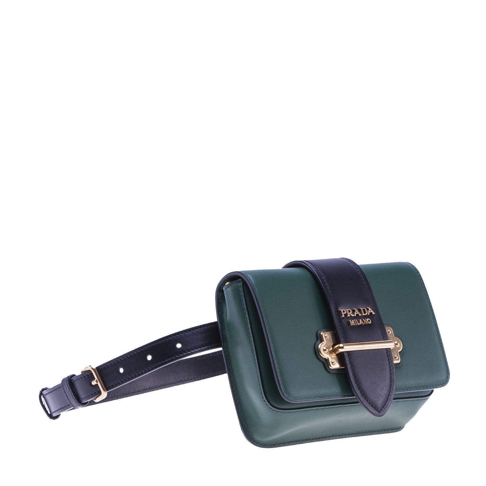 758c81571e9e Prada Cahier Convertible Belt Bag In Dark Green