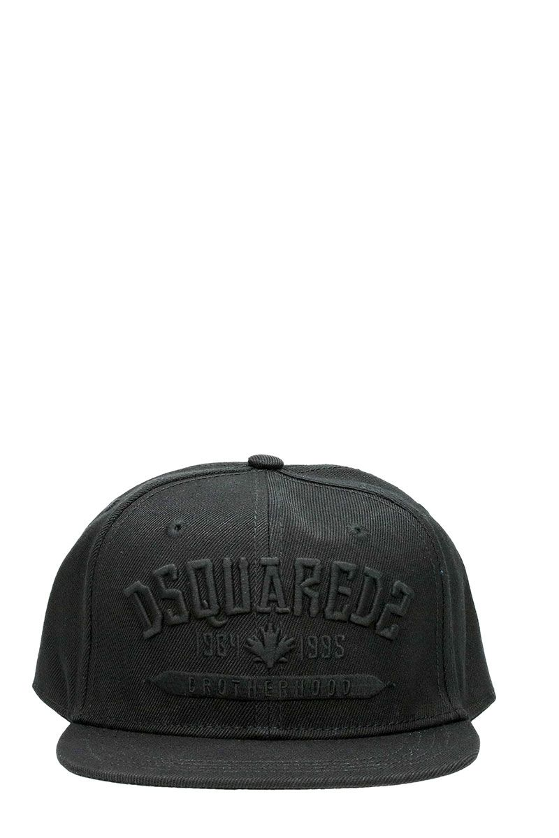 Dsquared2 Brotherhood Black Fabric Cap Black Logo