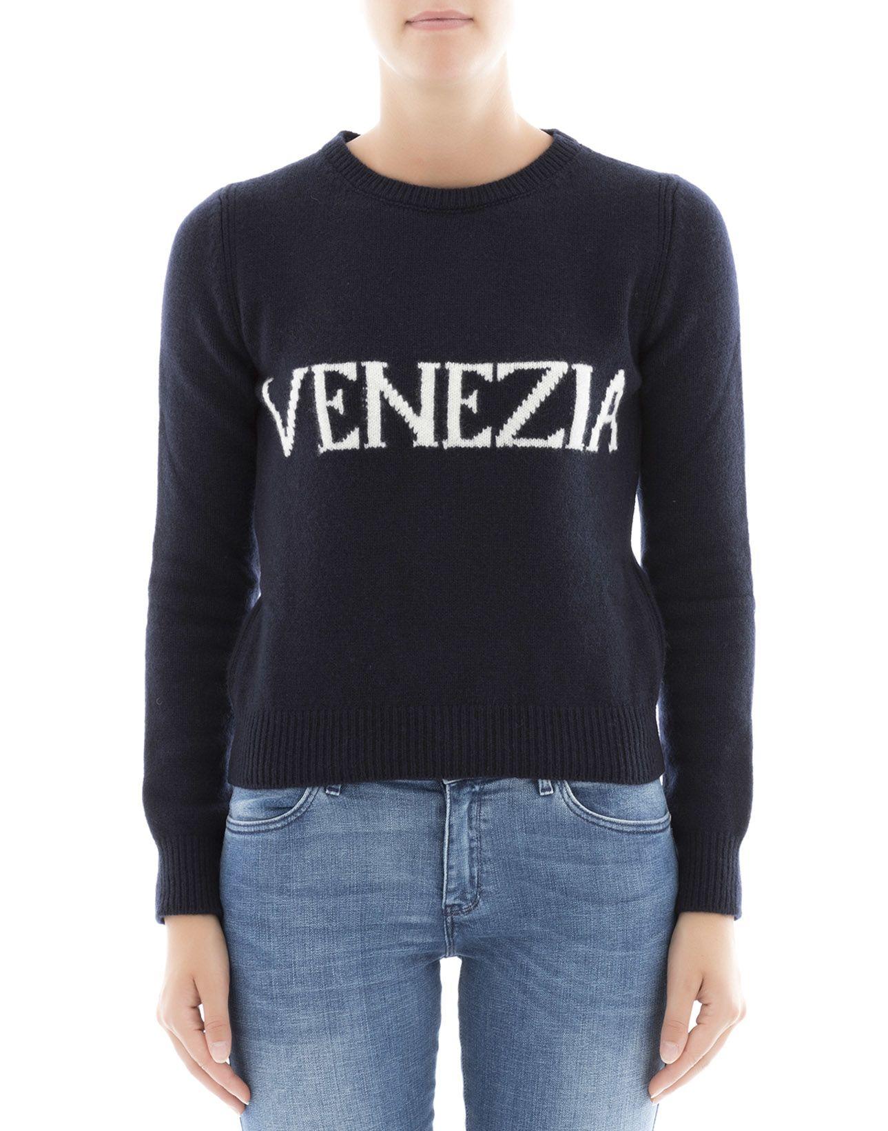 Blue Wool Sweatshirt