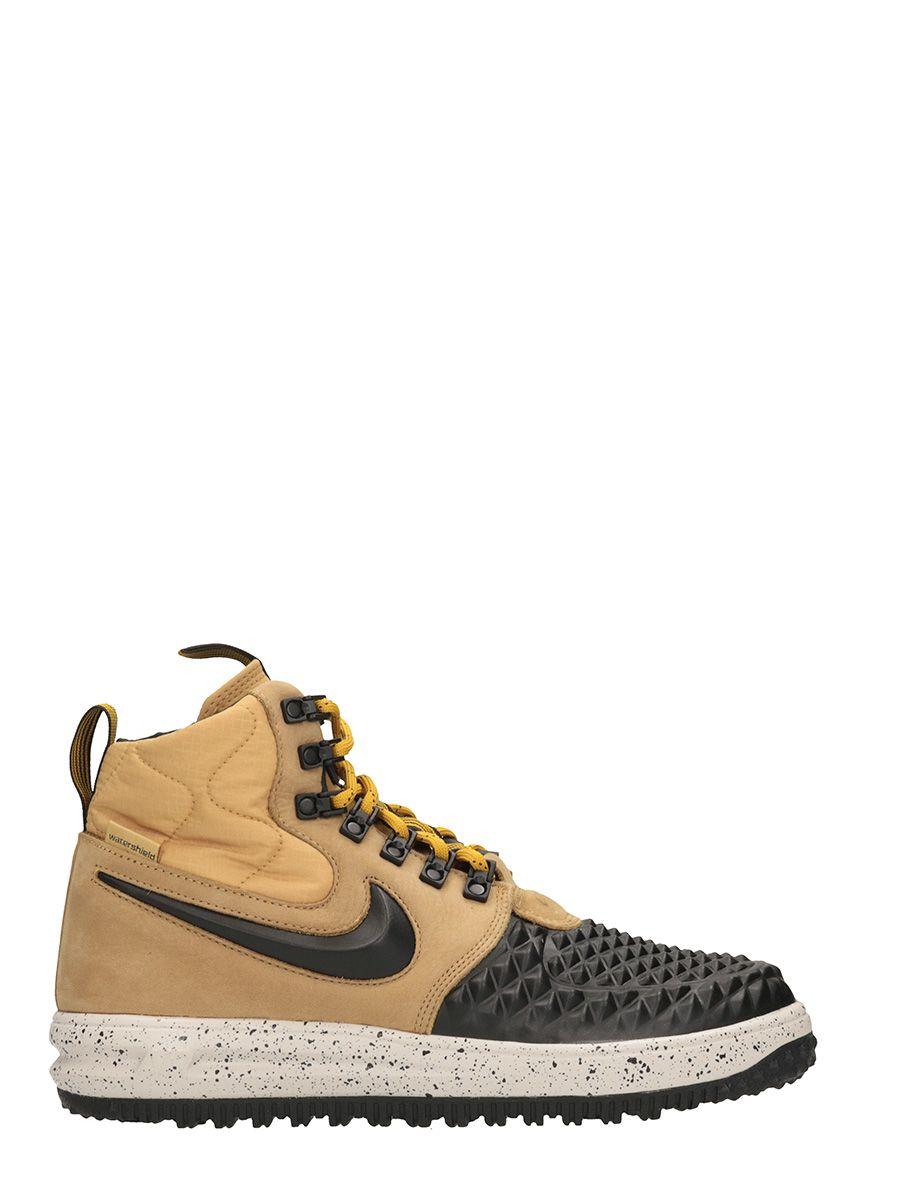 Nike Lunar Force 1 Duckboot Black Beige Leather Sneakers