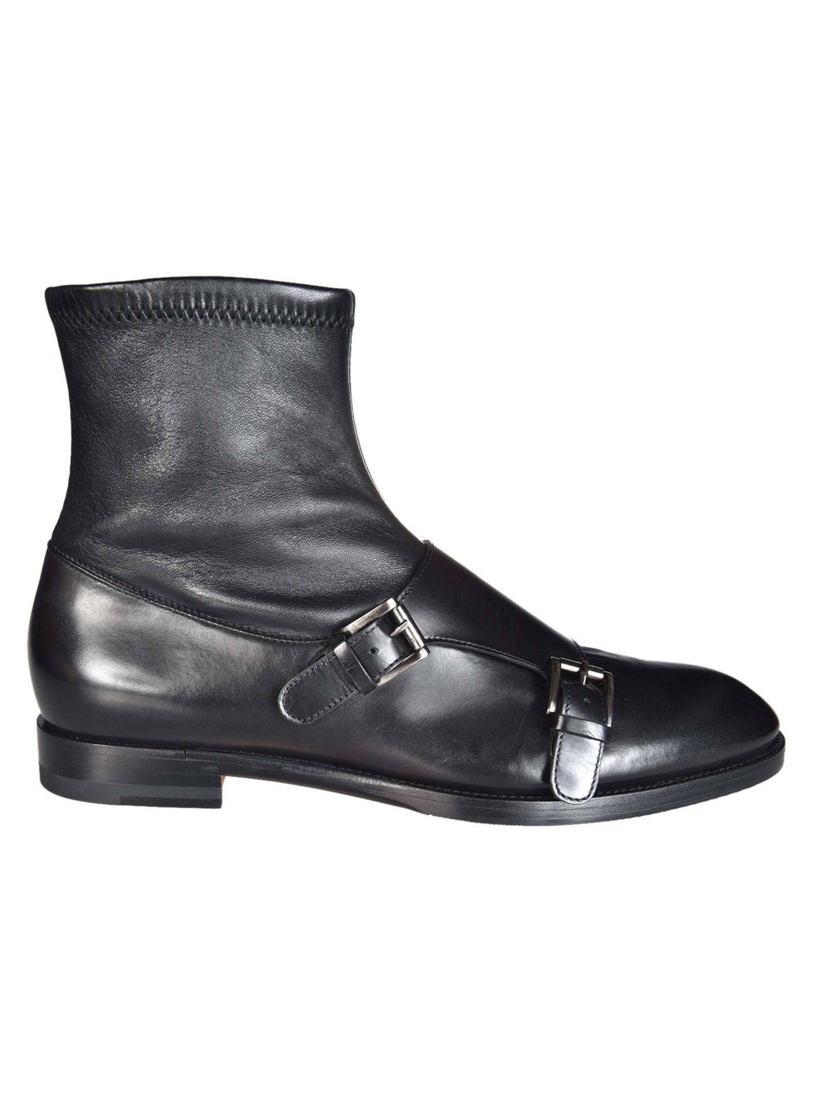 Santoni Monk Strap Boots