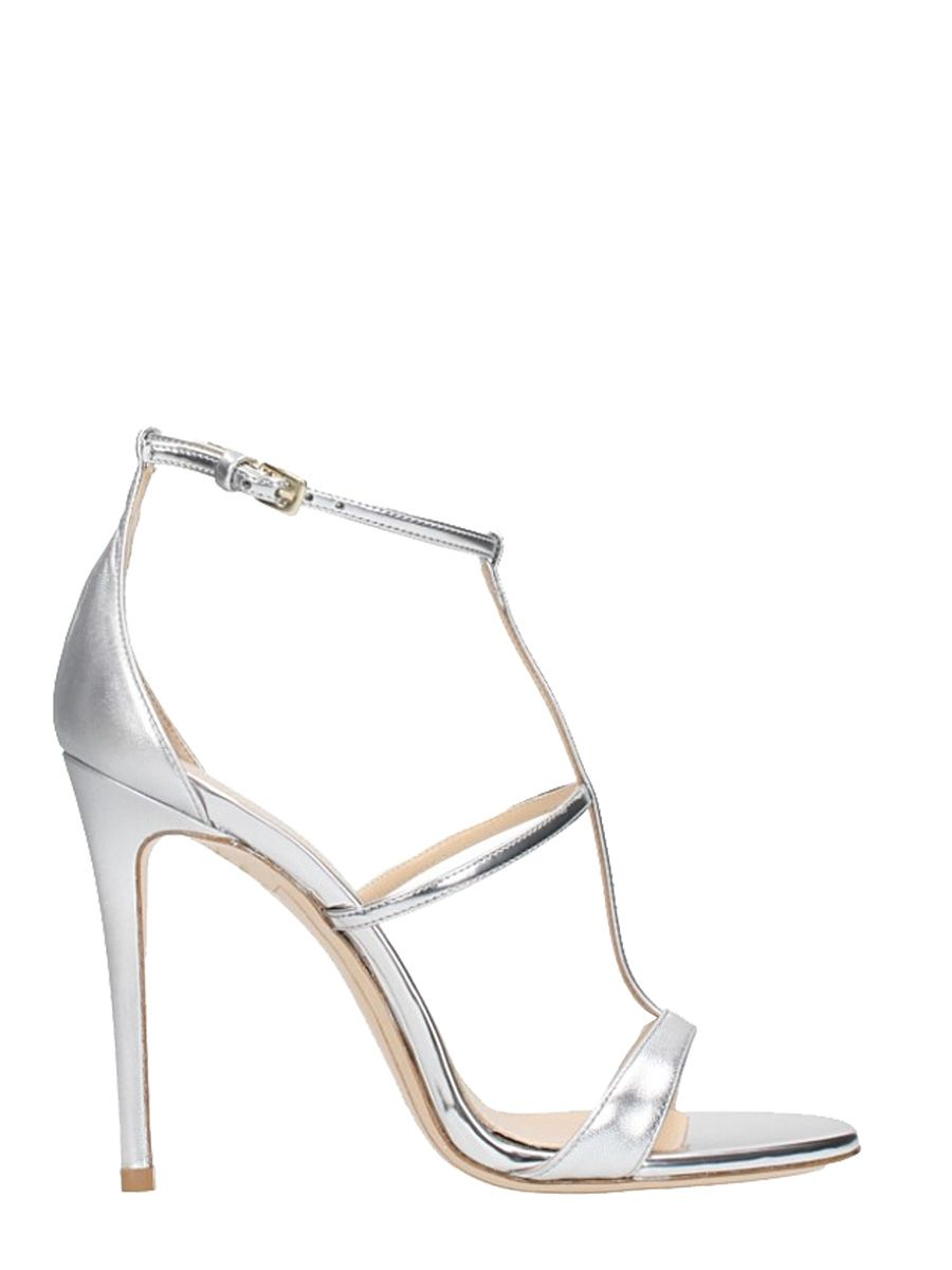 Dei Mille Silver Calf Leather Sandals