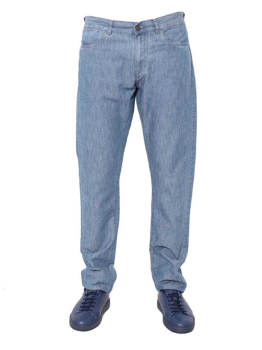 Canali - Cotton And Linen Jeans