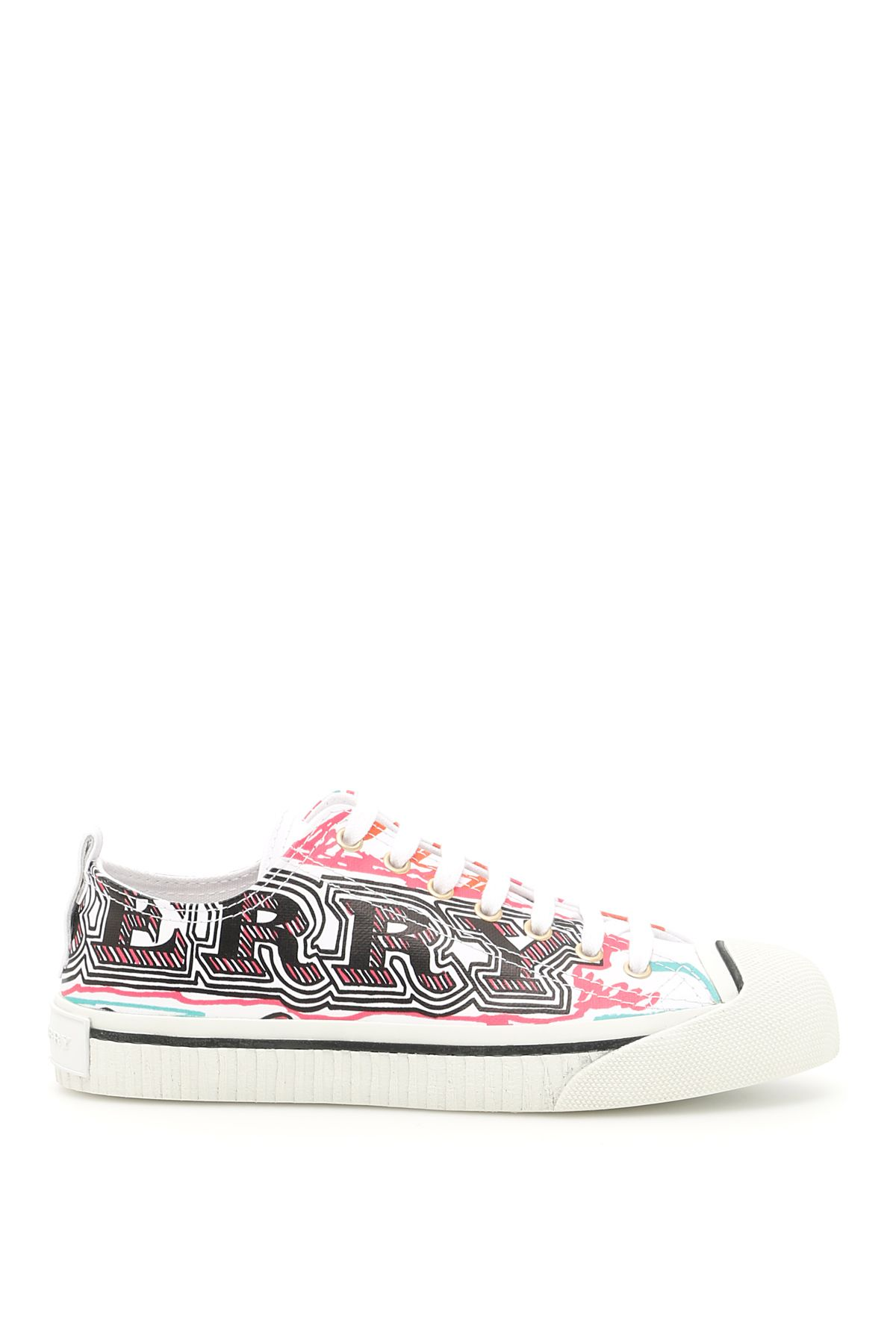 Printed Canvas Kingly Sneakers