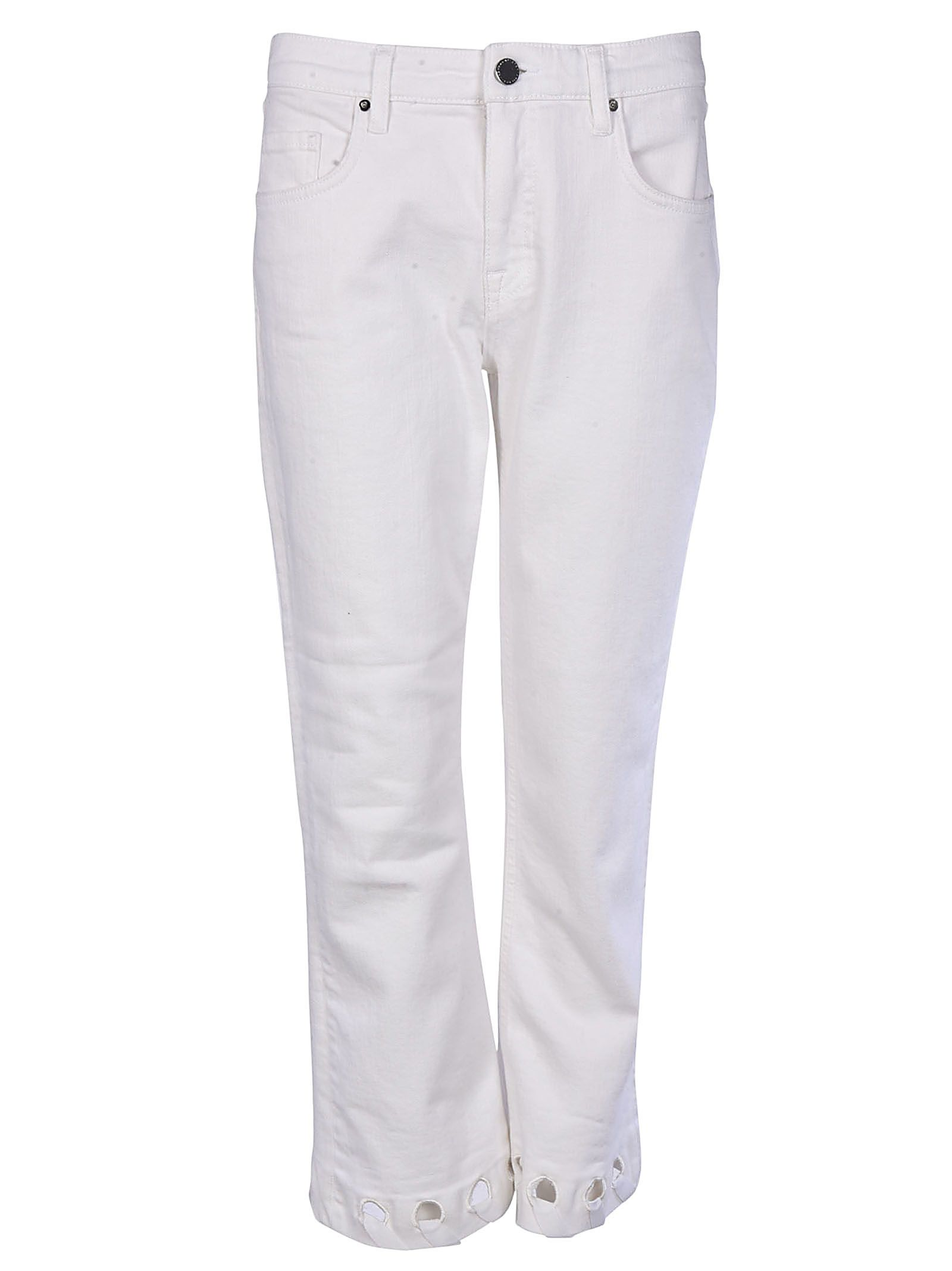 Victoria Victoria Beckham Cut Out Detail Cropped Jeans