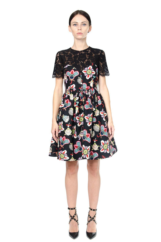 Valentino Multicoloured Print Wool-silk Dress