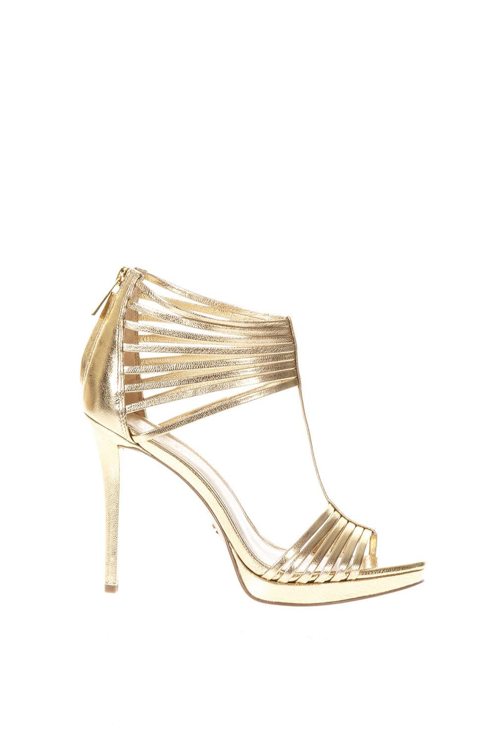 MICHAEL Michael Kors Leann Gold Coloured Leather Sandals