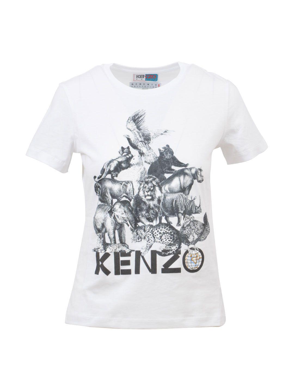 Kenzo White Branded T-shirt