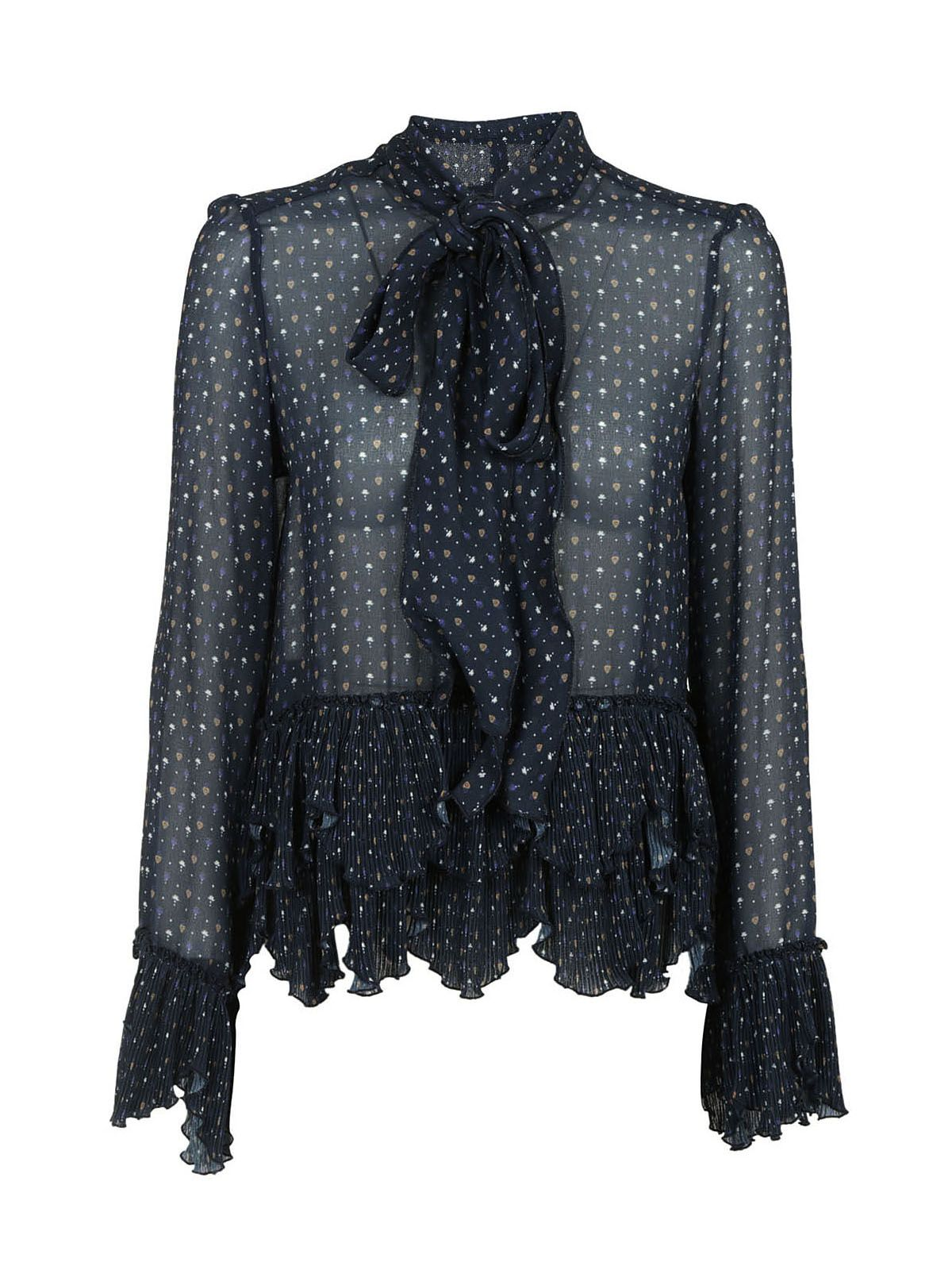 See By Chloé Embroidered Frill Blouse