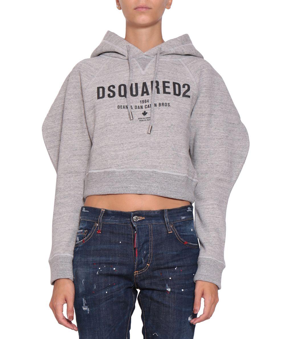 Dsquared2 Cropped Cotton Sweatshirt