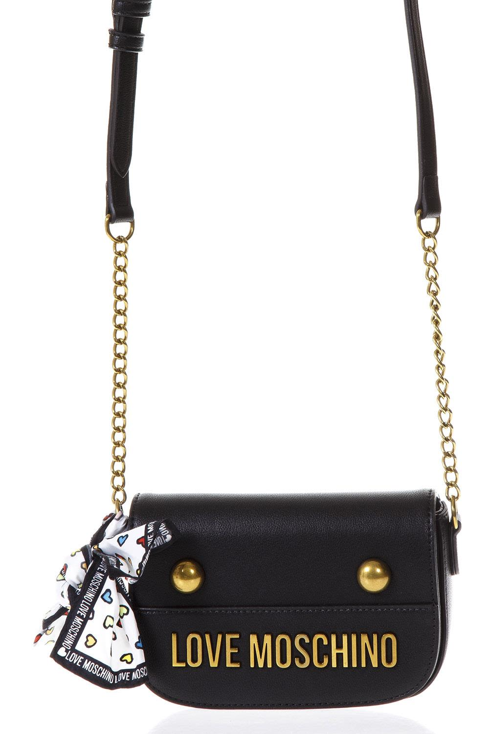 Love Moschino Black Faux Leather Cross-body Bag