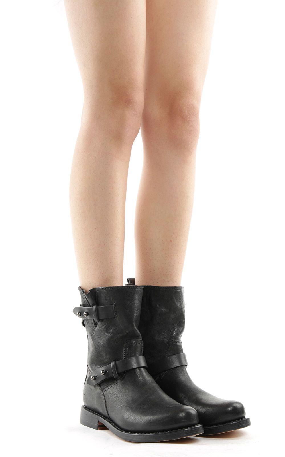 Rag & Bone Biker Leather Boots
