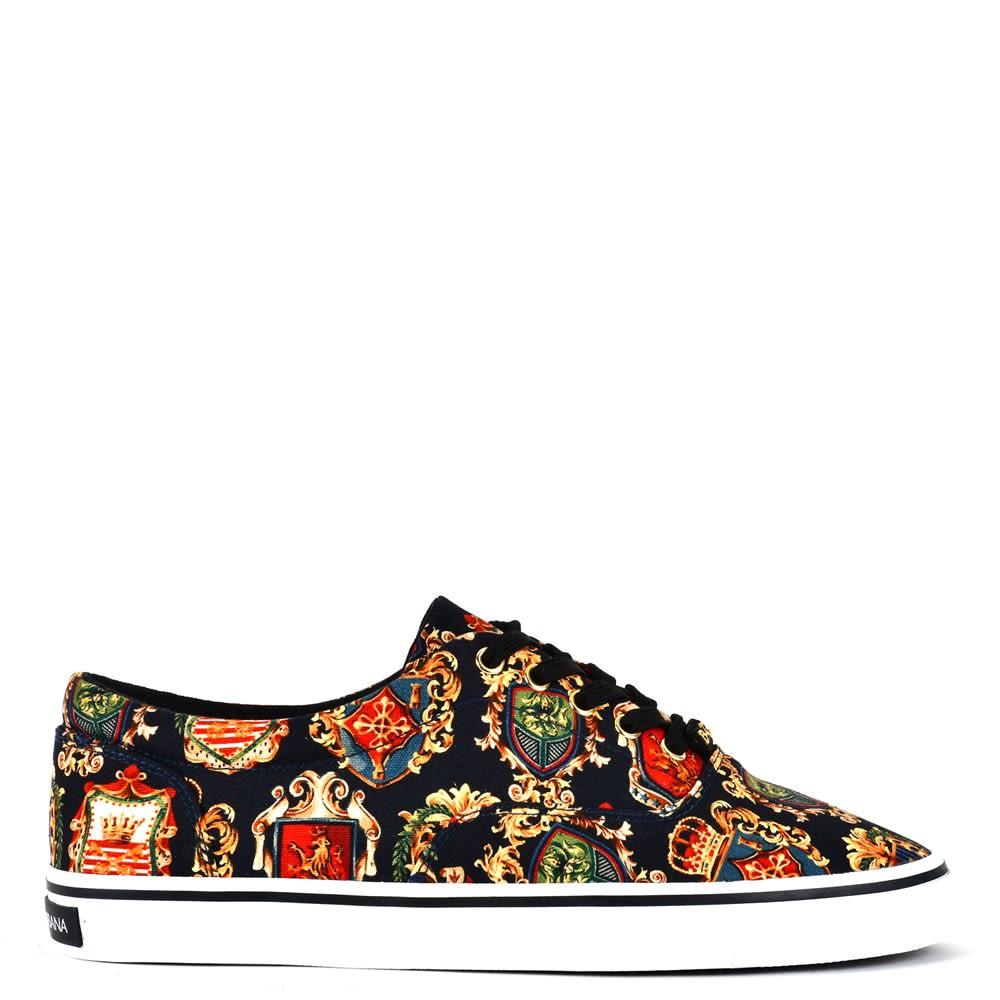 Dolce & Gabbana Sneakers In Printed Canvas