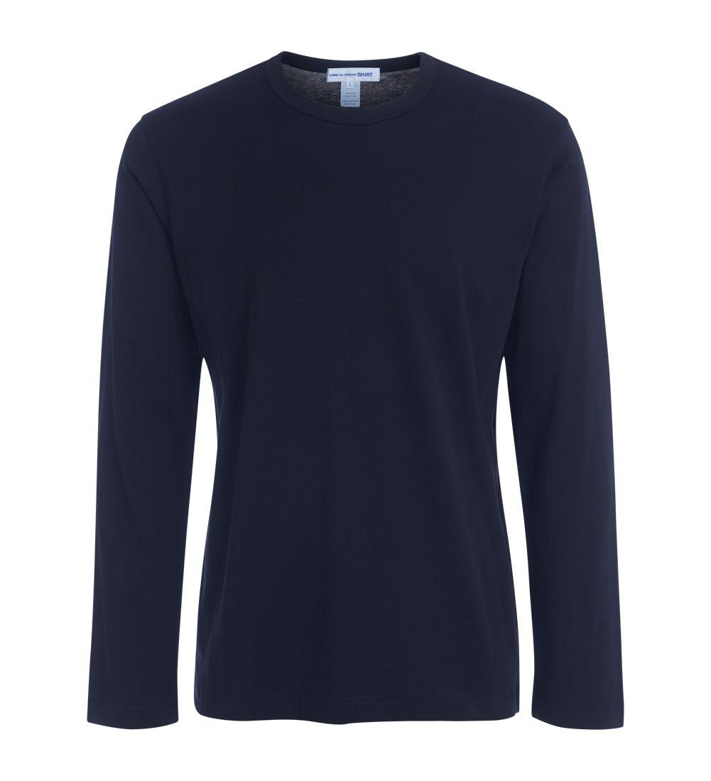 Comme Des Garçons Shirt Black T-shirt With Printed Logo.