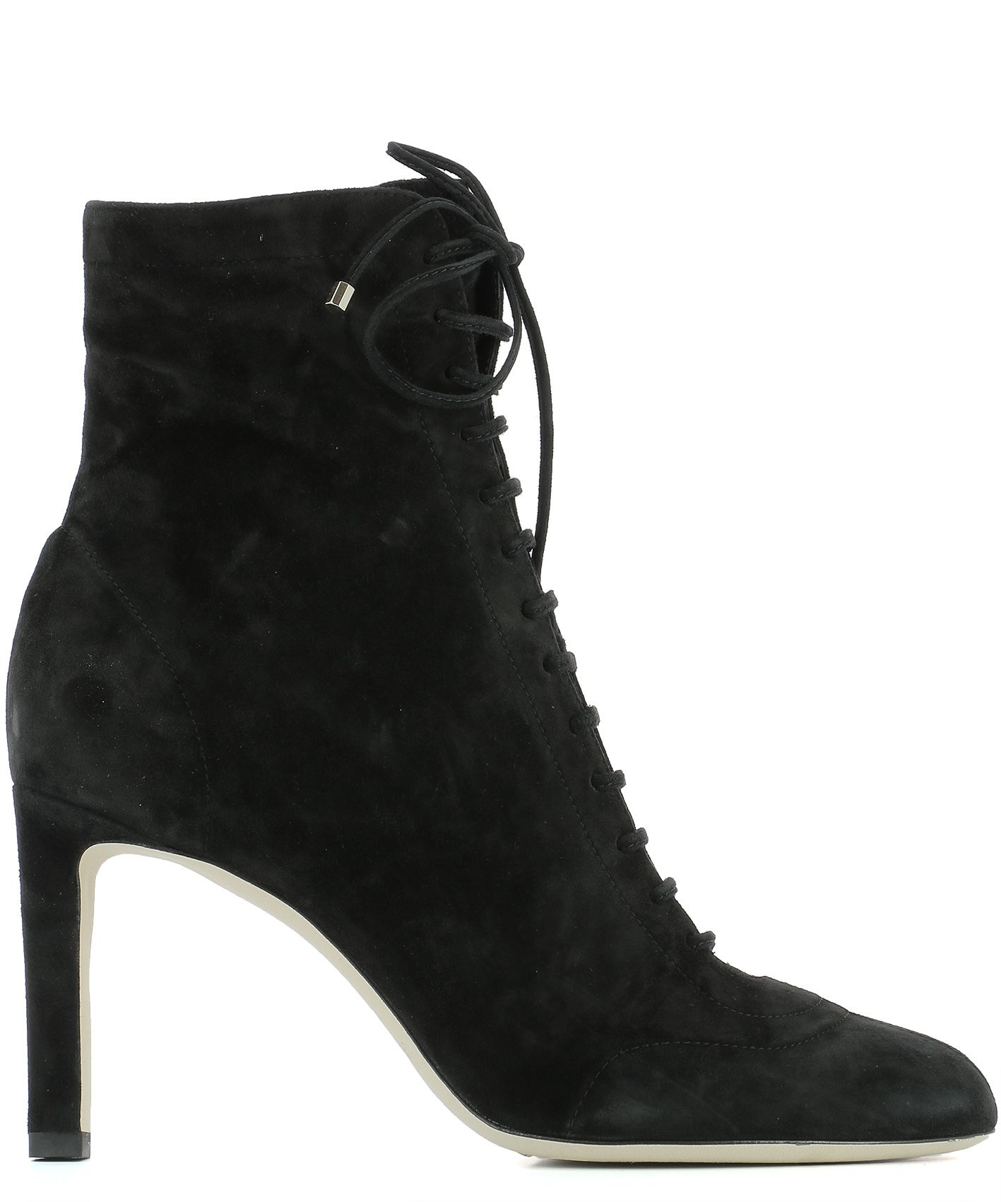 jimmy choo black suede heeled ankle boots daize 85 hsc