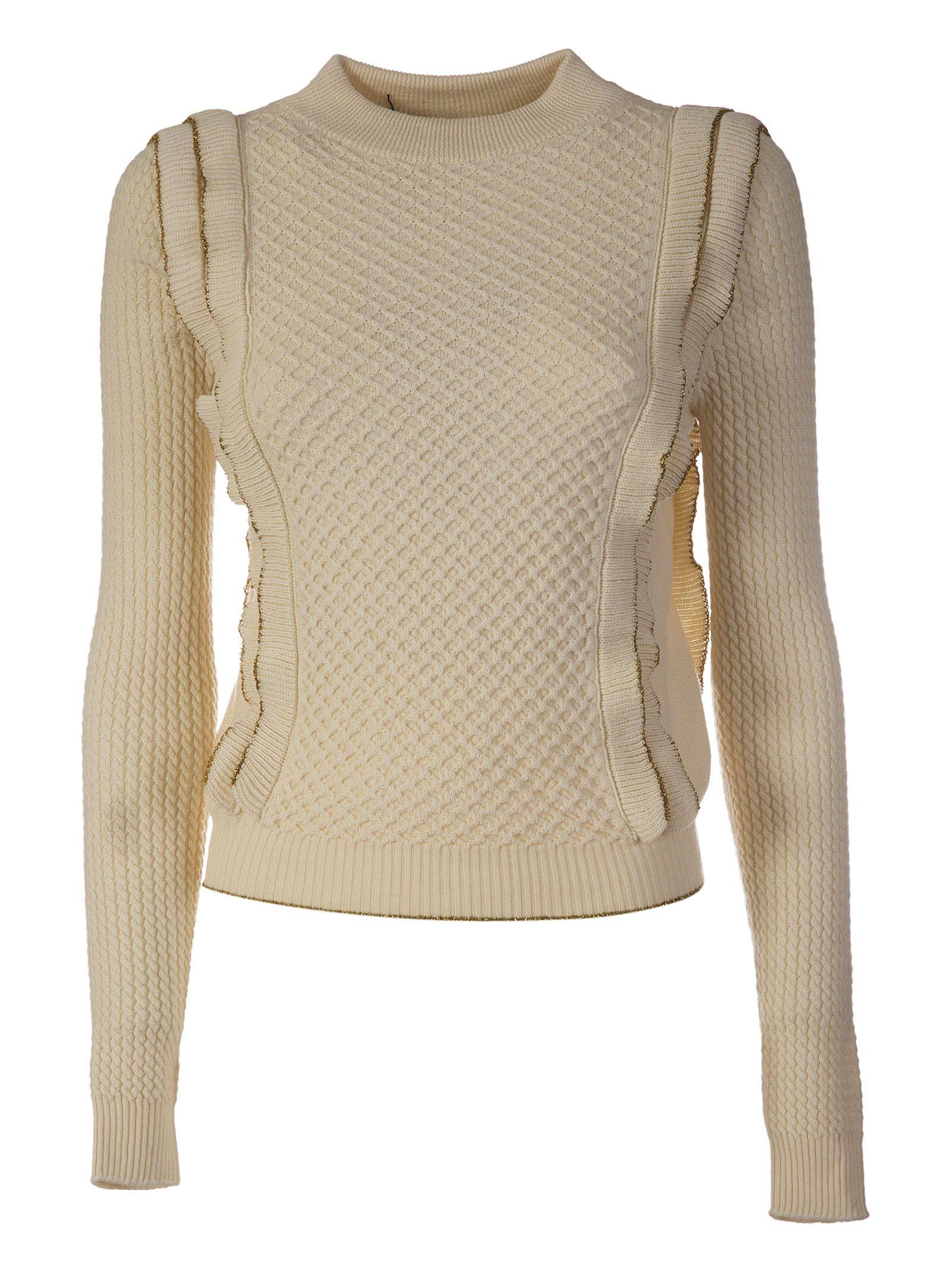 Philosophy Di Lorenzo Serafini Frilled Sweater