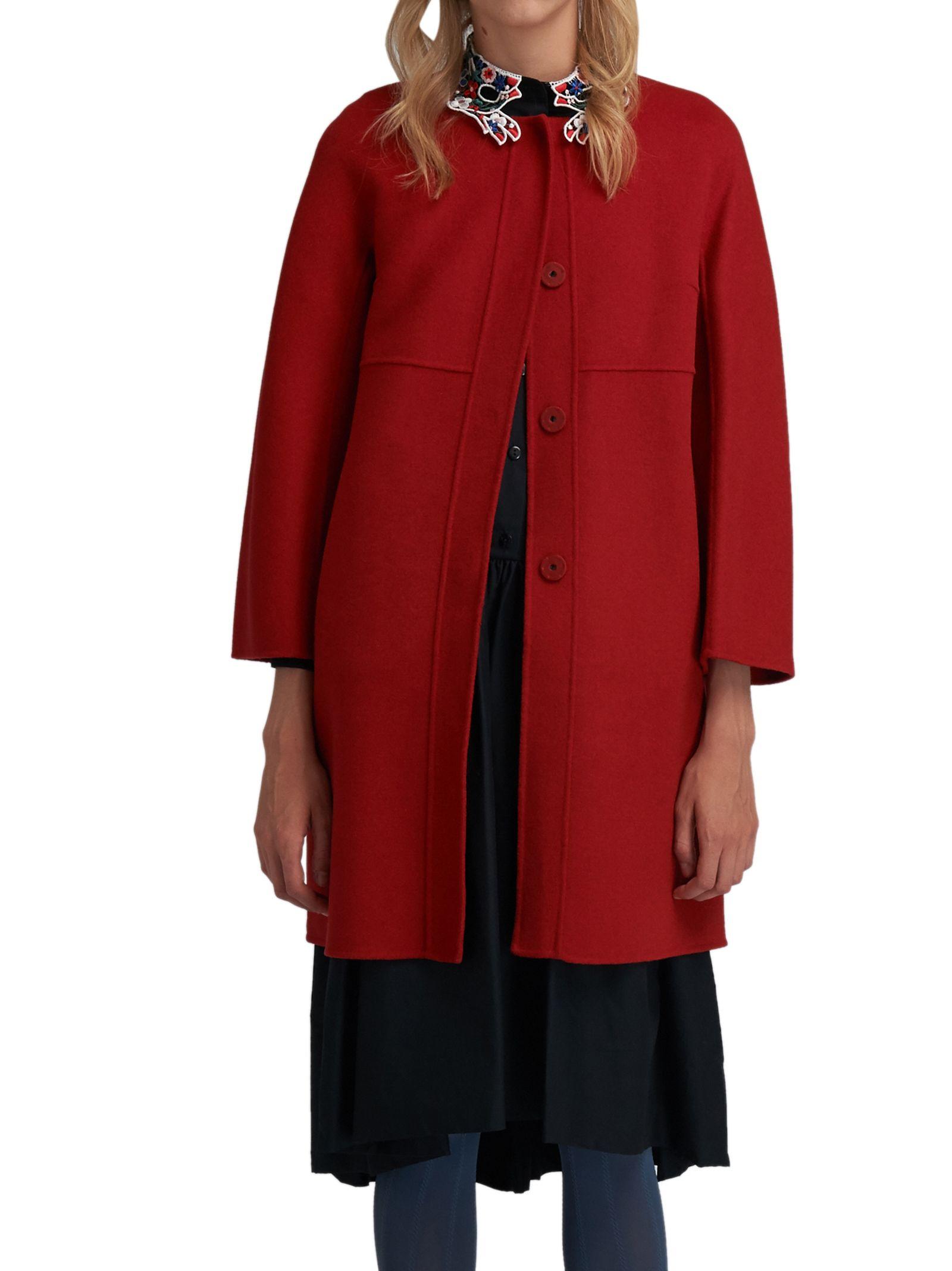 Max Mara Weekend Wool Red Coat