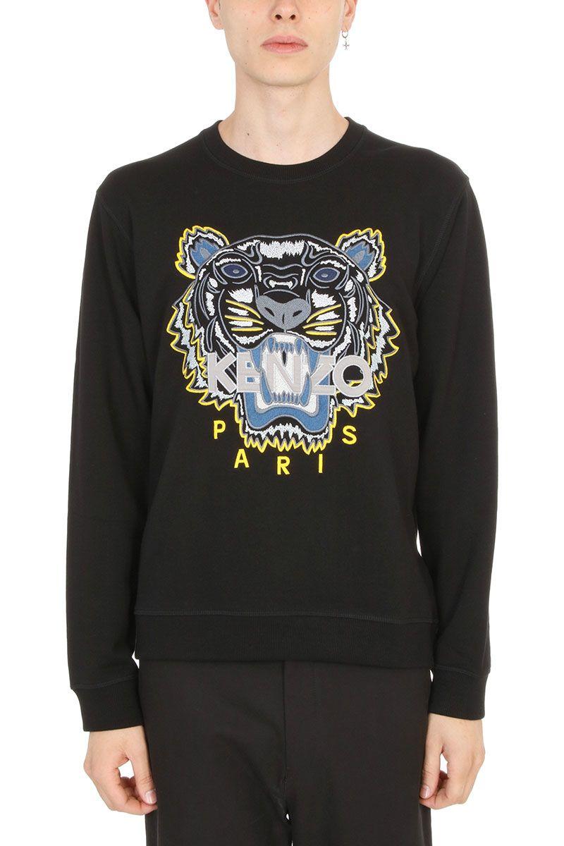 Kenzo Tiger Black Cotton Sweatshirt