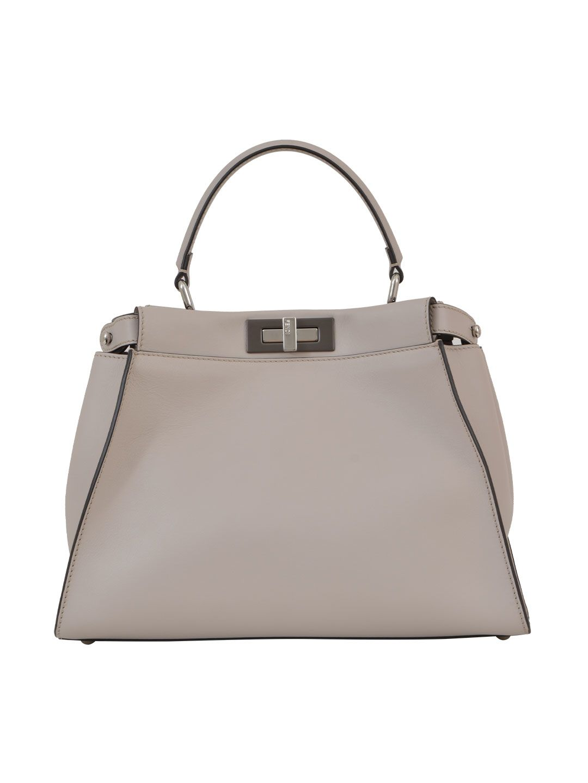 Fendi White Peekaboo Handbag
