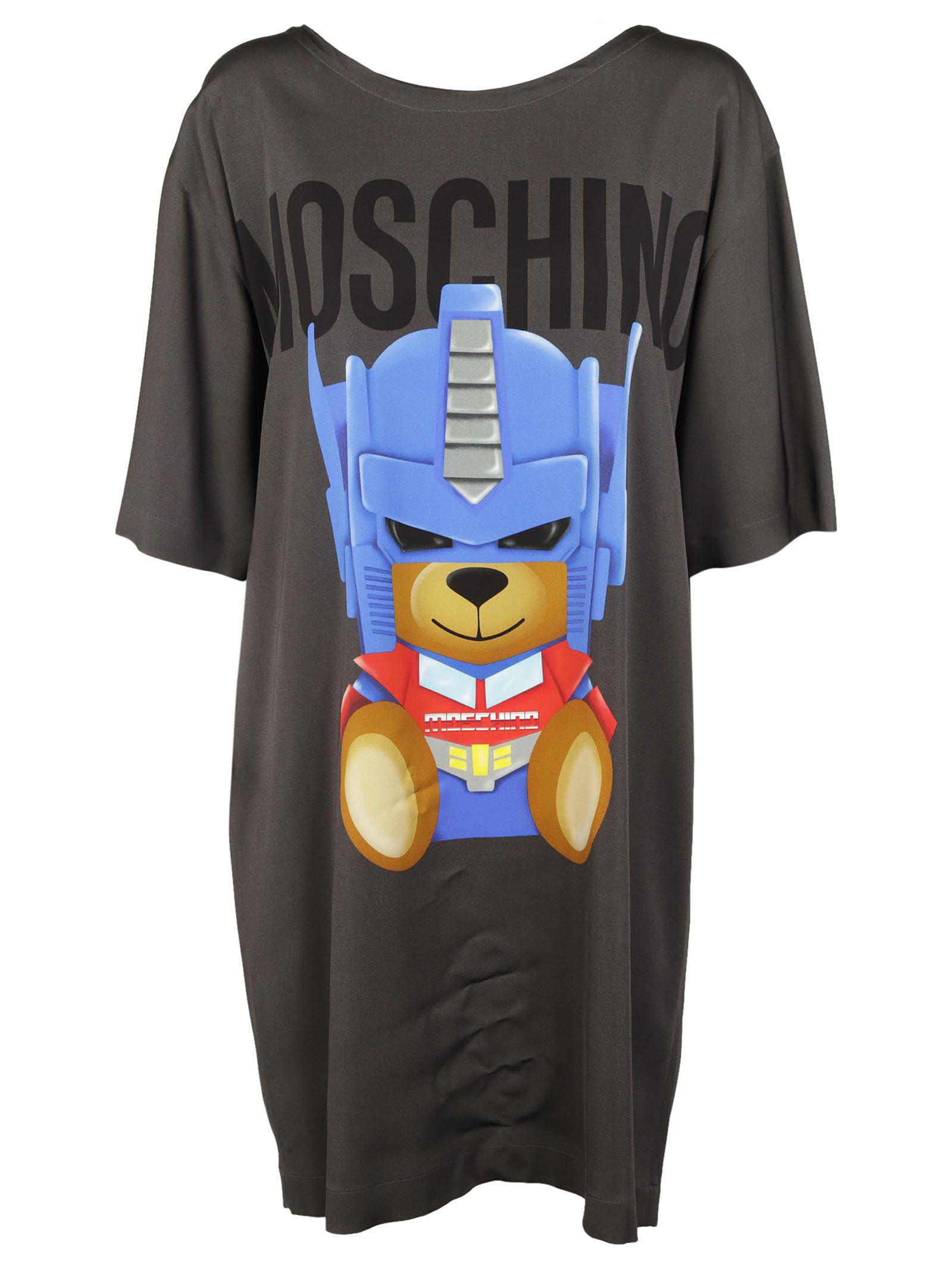 Moschino Robot Bear Print Dress