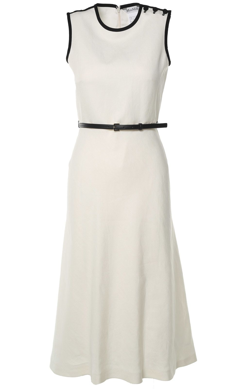 Max Mara Saio Linen And Silk-blend Twill Midi Dress
