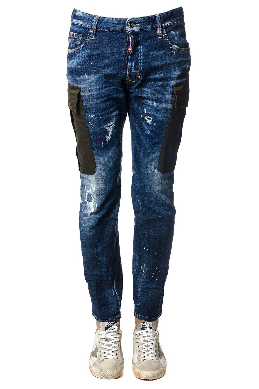 Dsquared2 City Biker Blu Denim Jeans