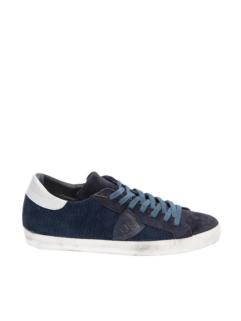 philippe model philippe model sneaker suede blue men 39 s sneakers italist. Black Bedroom Furniture Sets. Home Design Ideas