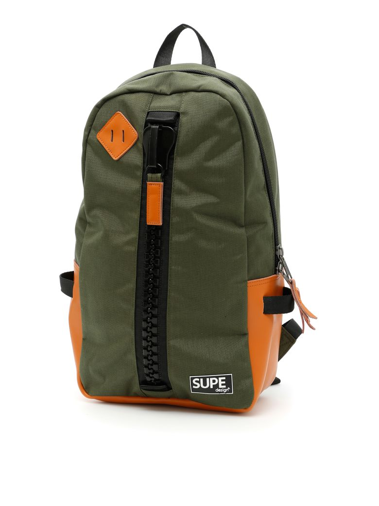 SUPE DESIGN Day Bag Infinity Backpack in Olive