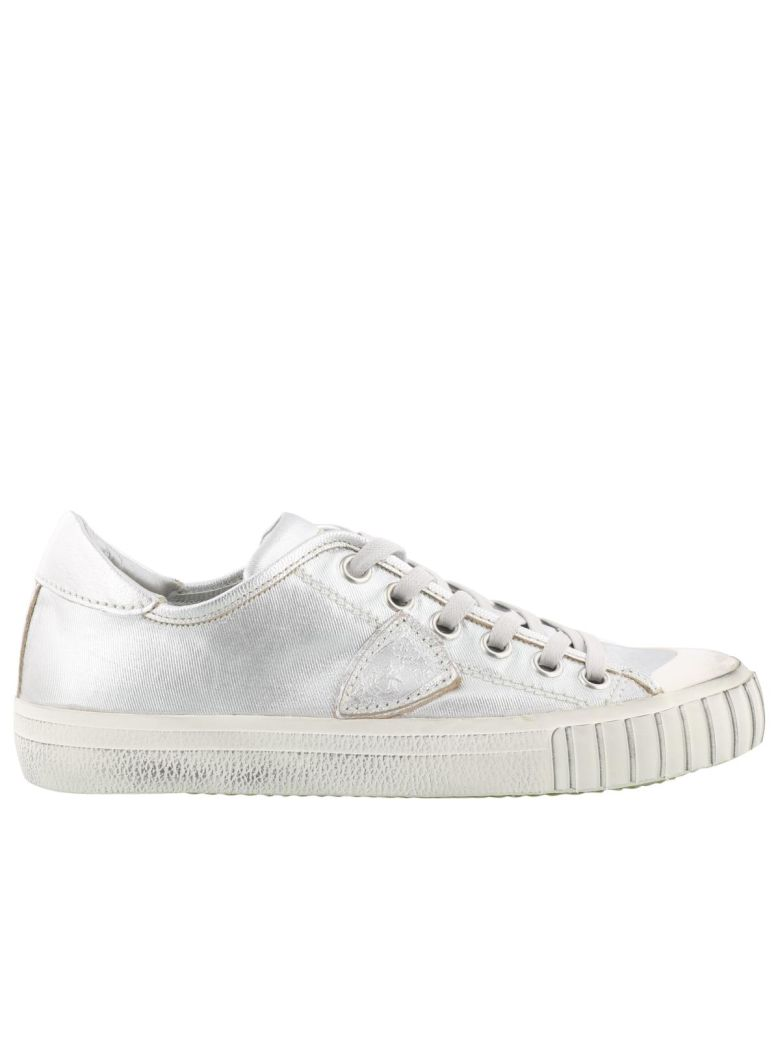 PARIS SILVER SNEAKERS IN LEATHER