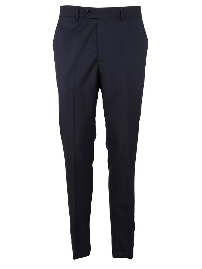 MASSIMO PIOMBO Skinny Tailored Pants in Blu