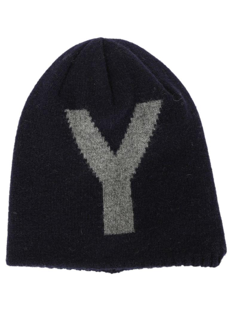 Y'S Reversible Wool Beanie in Navy Blue