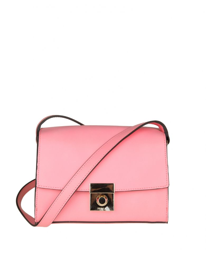 MILANO S SHOULDER IN PINK LEATHER