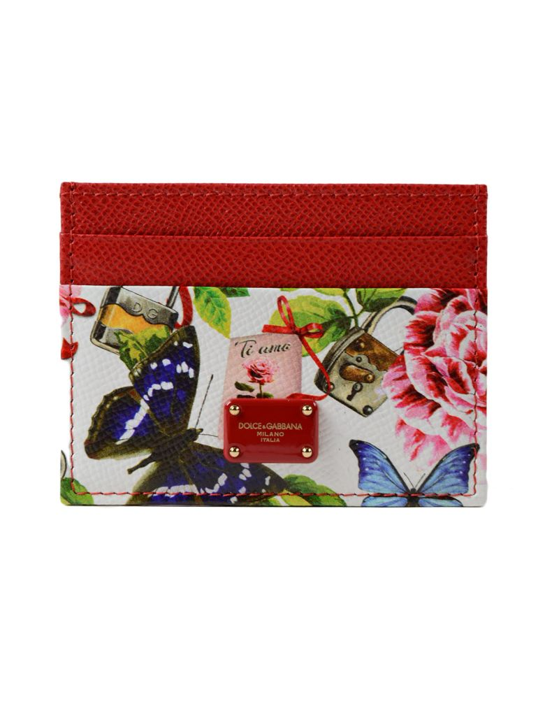 DOLCE & GABBANA ST. DAUPHINE FLORAL CARD CASE