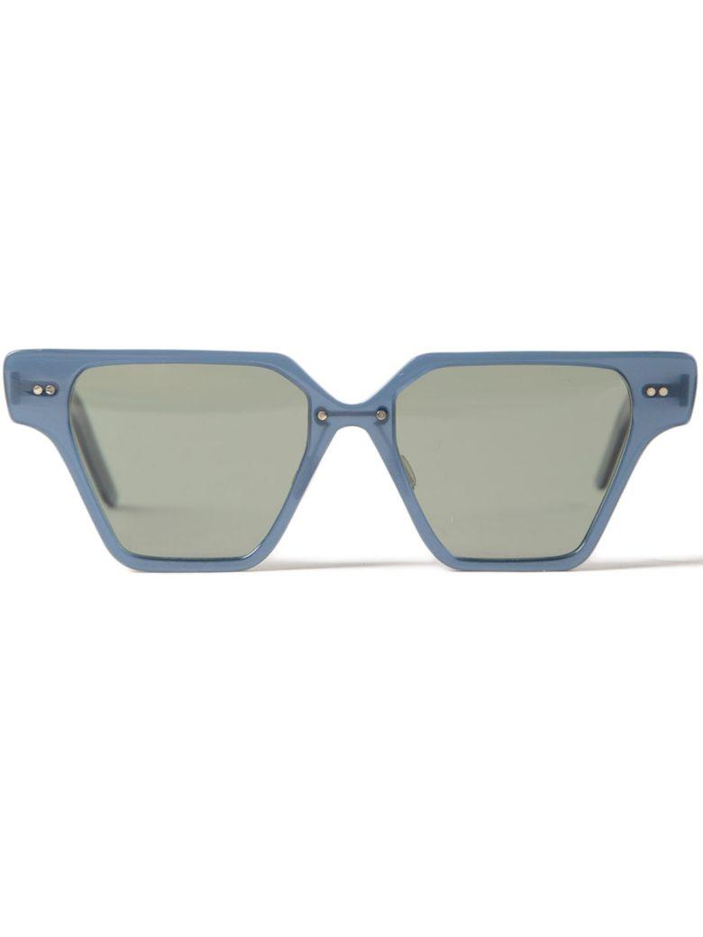 DELIRIOUS Square Frame Sunglasses in Blue Magic