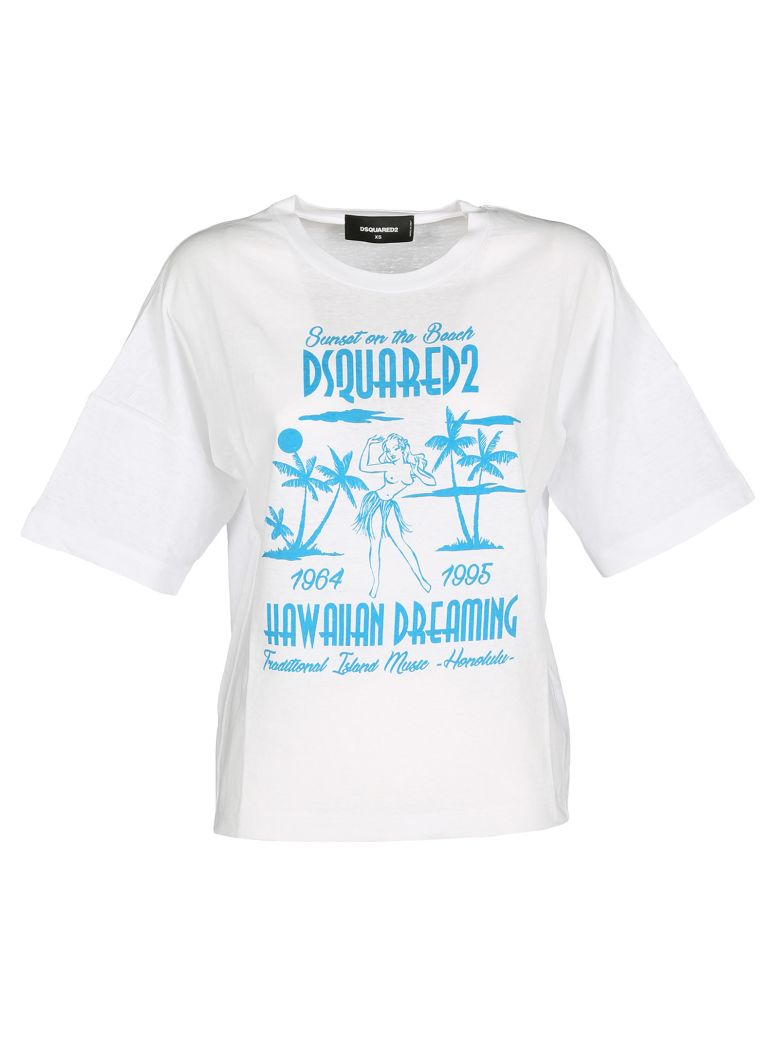 acf59652 DSQUARED2 D SQUARED TSHIRT GIRL HAWAII, WHITE | ModeSens