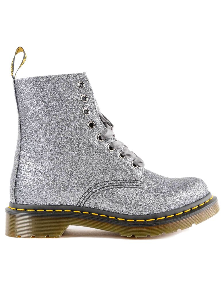 GLITTER LACE-UP BOOTS