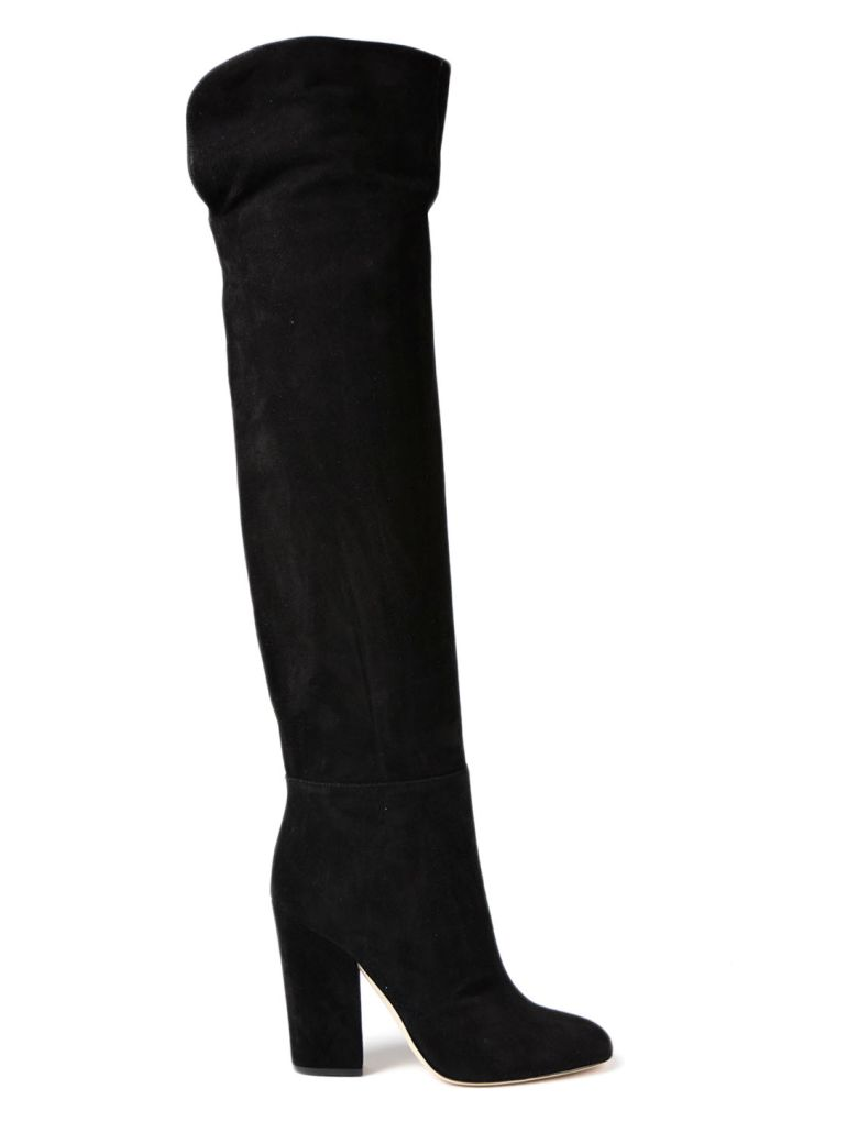 CURVED KNEE HIGH BOOTS