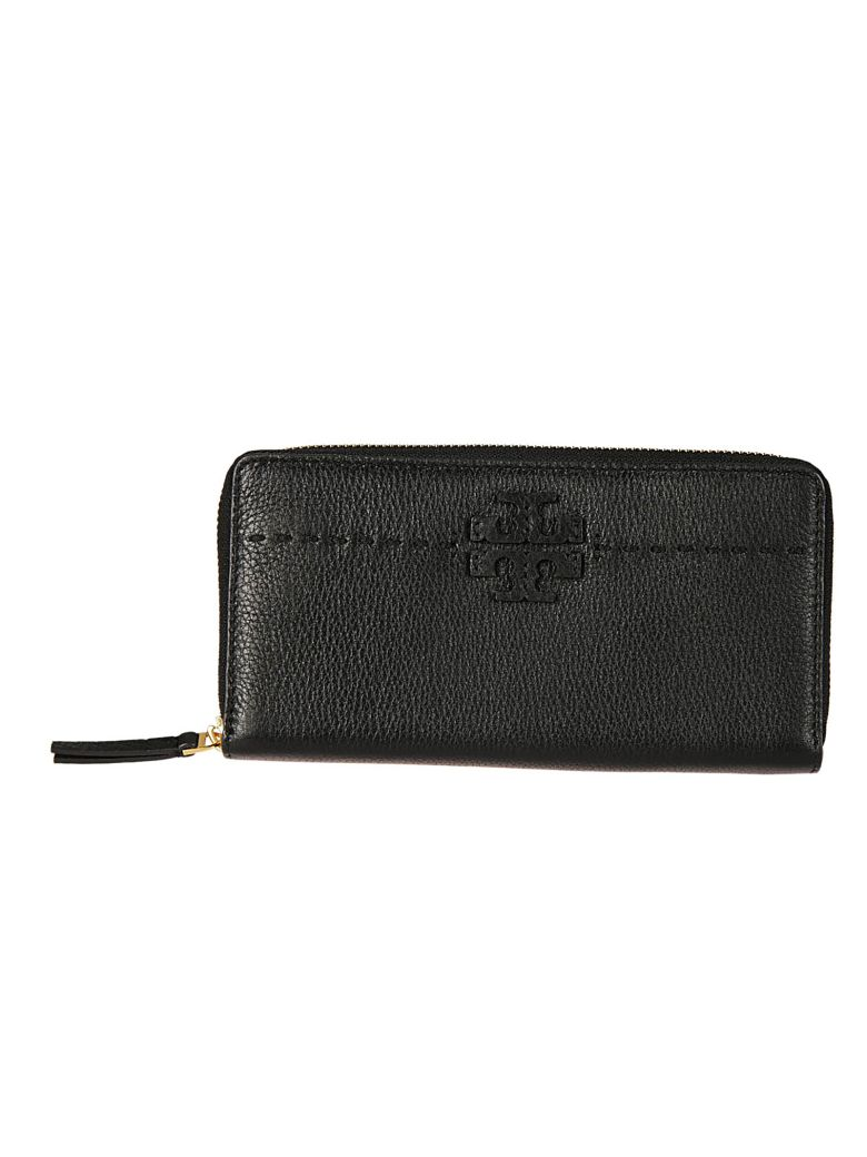 Women'S Wallet Genuine Leather Coin Case Holder Purse Card Bifold Mcgraw Continental in Black