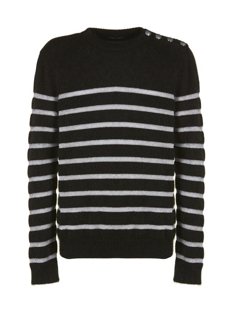 b9661fa38 Best Nero In Knit Stripe Market Balmain For The Sweater Price 10727794  Argento rrzxUwqZ