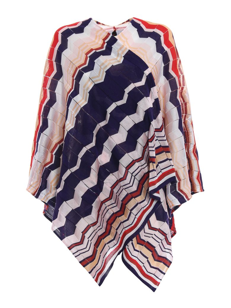 WAVE PRINT WRAPPED CAPE