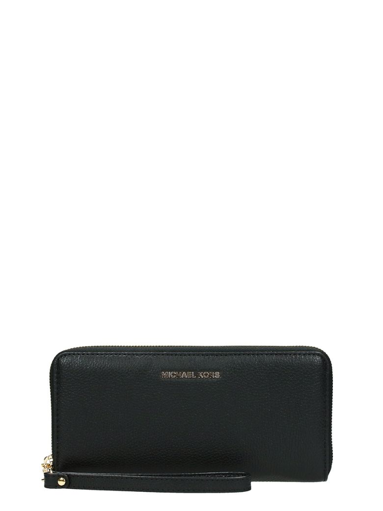 WALLET TRAVEL JET CONTINENTAL SET IN BLACK SAFFIANO LEATHER