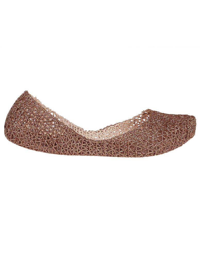 'Campana Papel Vii' Jelly Flat in Beige Glitter
