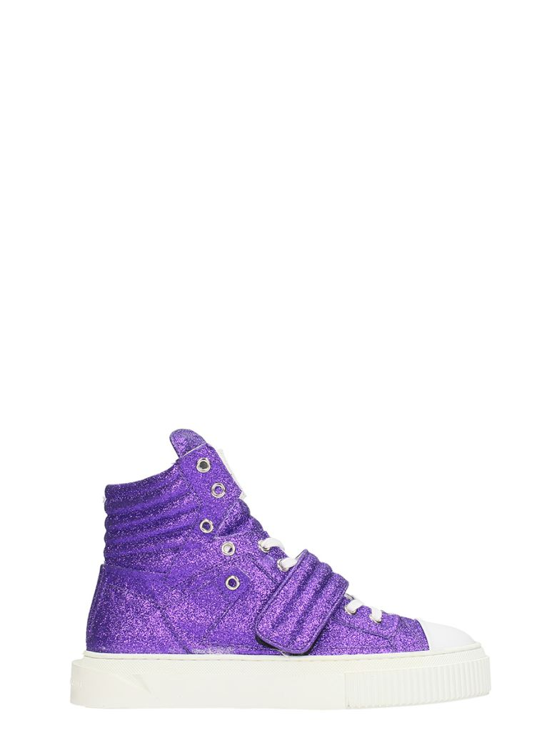 GIENCHI HYPNOS PURPLE GLITTER SNEAKERS