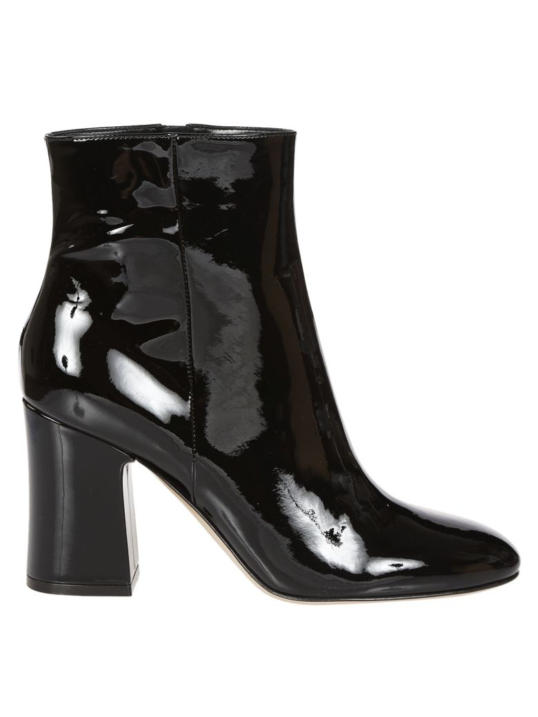 italist best price in the market for gianvito rossi gianvito rossi shelly ankle boots black. Black Bedroom Furniture Sets. Home Design Ideas