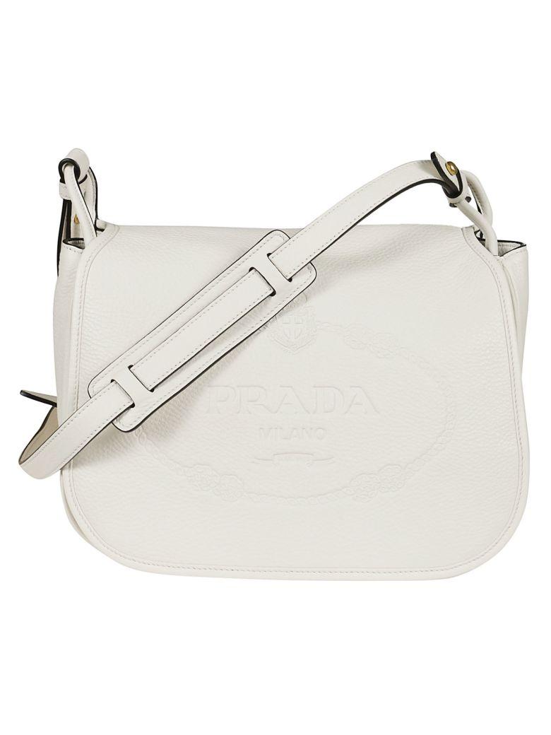 b9b1db79c9a6 Prada Vit Daino Shoulder Bag In Bianco