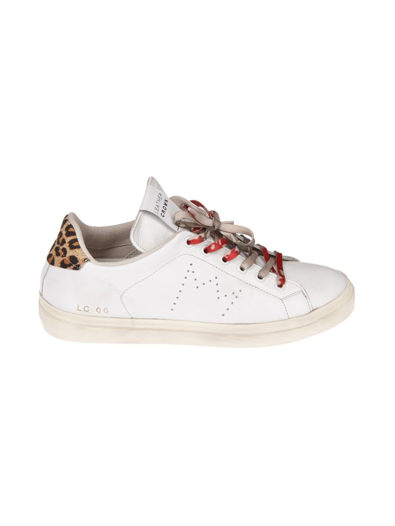 Leather Crown LEOPARD PRINT SNEAKERS